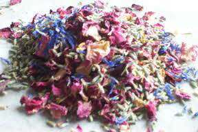 natural wedding confetti cornflower