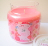 valentine hearts roses candle jar